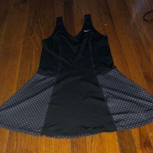 NEW Nike black white tennis tank dress medium M